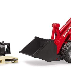 BRUDER - BR 02191 - Chargeur Compact SCHÄFFER 2034 rouge avec personnage et accessoires
